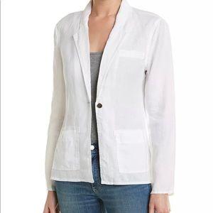 Michael Stars Jacket Blazer White 100% Linen M
